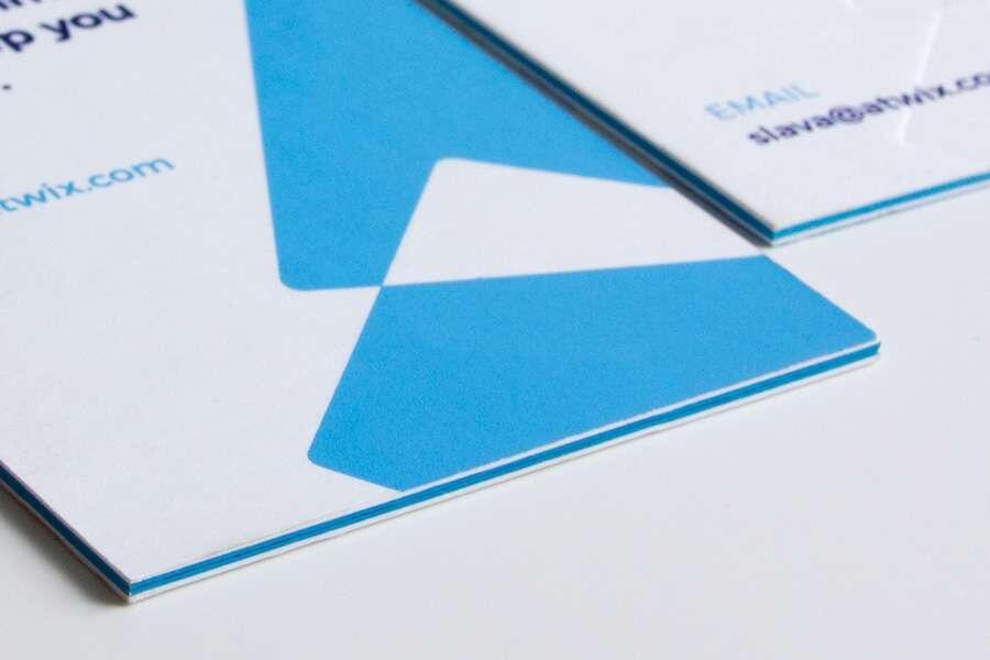 Многослойные кашированные визитки