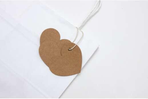Декоративные бирки, форма сердца