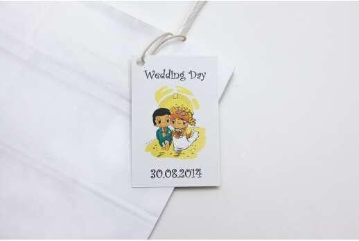 Декоративные бирки на свадьбу
