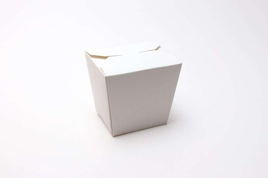 Упаковка для лапши белая