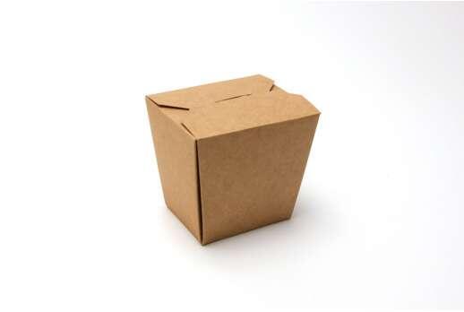 Упаковка для лапши крафтовая 85*60*100 мм