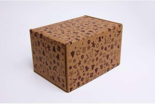 Картонная коробка для новогодних подарков 165*115*100 мм