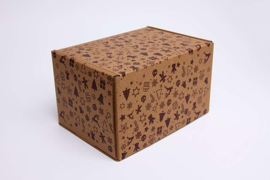Картонная коробка для новогодних подарков