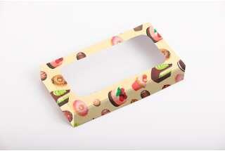 Коробка для пирожных 150*80*25 мм