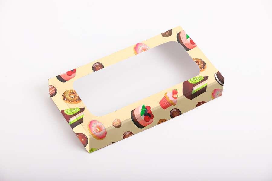Коробка для пирожных с окошком