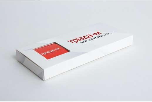 Картонная упаковка для шоколадок 120*55*10 мм