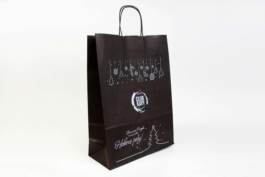 Черные крафт-пакеты с логотипом