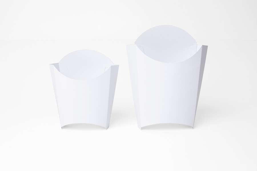 Белая упаковка для картошки фри