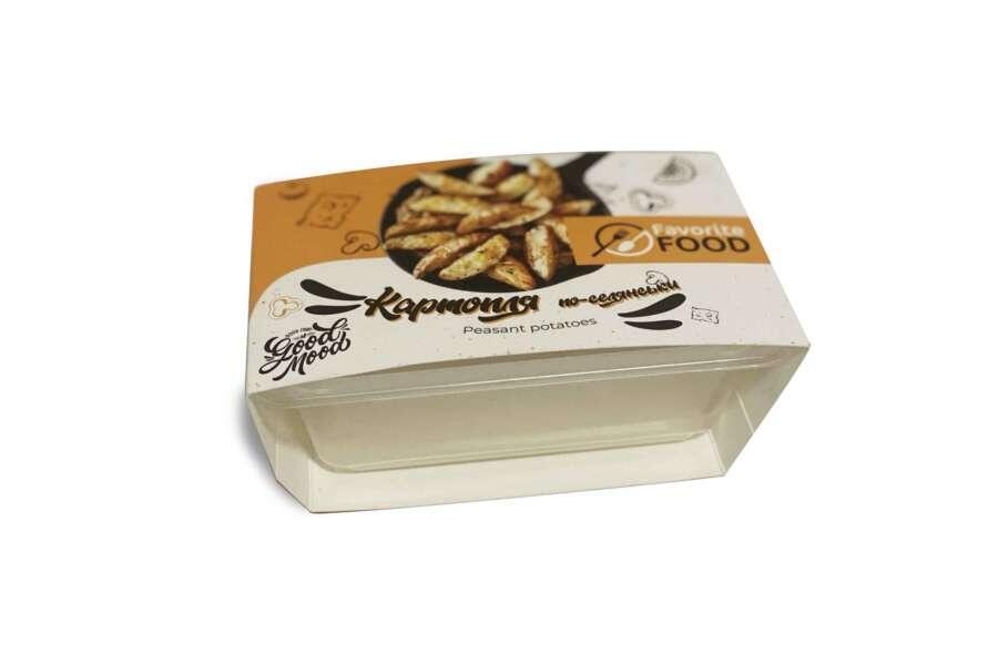 Картонная упаковка для лотков под замороженные полуфабрикаты , обечайки для лотков с едой