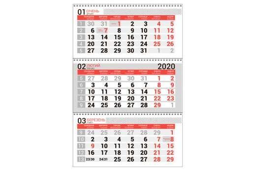 Календарная сетка красная