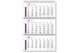 Календарная сетка фиолетовая
