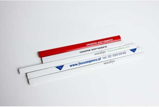 Плоские карандаши с логотипом