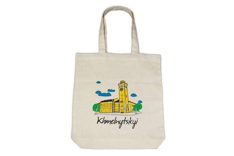 Эко-сумка с логотипом бежевая ??