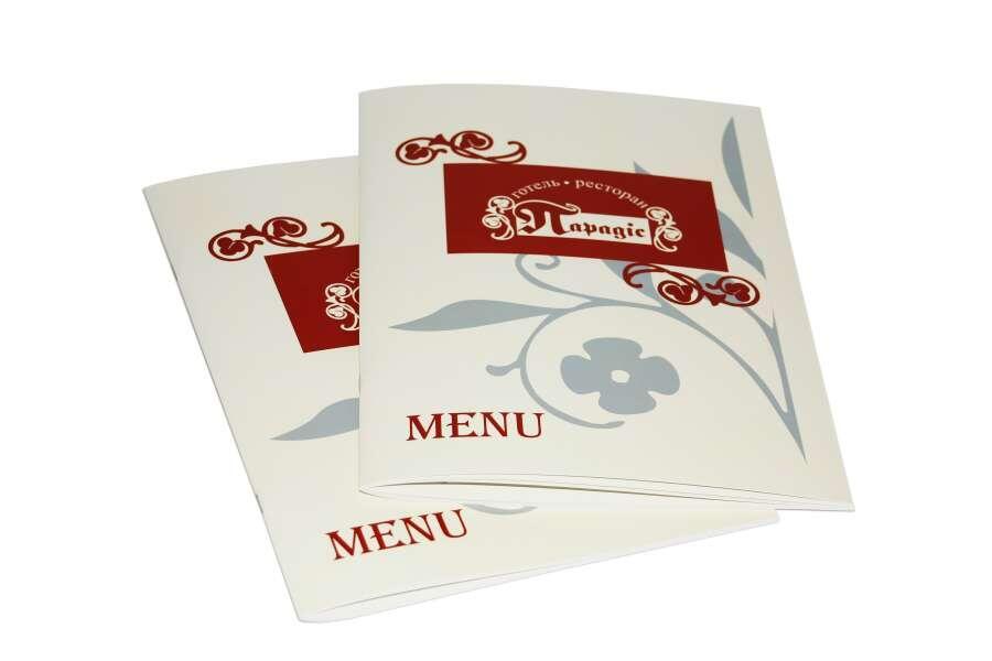 Печать меню для отеля-ресторана