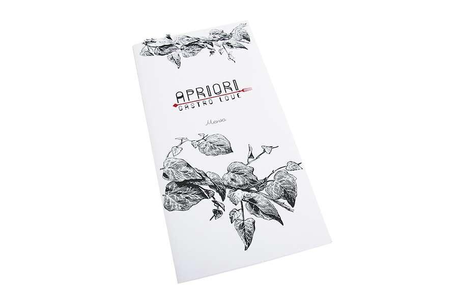 Печать меню для ресторана