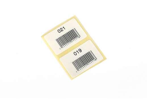 Паперова термоетикетка8х15 мм, 20х30 мм, 50х54,5 мм,.....88х120 мм