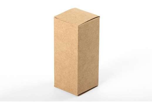 Коробка из крафт-картона 35х35х83 мм