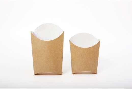 Упаковка для картошки фри из крафт-картона